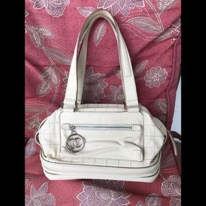 Chanel leather essential bowler purse